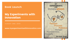 Book Launch – My Experiments with Innovation