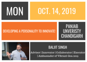 Monday October 14, 2019 | Panjab Unversity, Chandigarh