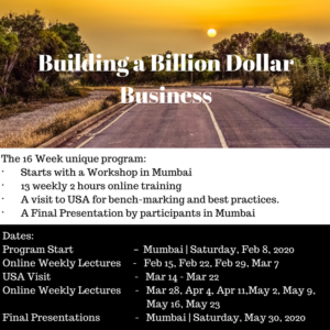 Building A Billion Dollar Business | Batch 2